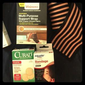 Ace Bandages, support wraps, wrist brace, bandaids